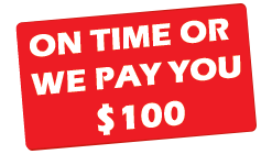 On Time or We Pay You $100