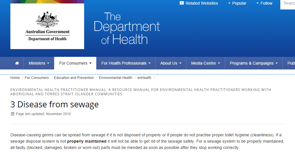 3 Disease from sewage