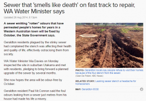 Sewer that smells like death on fast track to repair